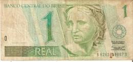 BILLETE DE BRASIL DE 1 REAL  (BANK NOTE) COLIBRI-BIRD-PAJARO - Brasil