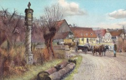 Waregem.  -  Prachtige LITHO -  Kaart;   Waereghem 18 Mars 1920 Naar  Deynze - Waregem