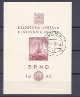 Czechoslovakia1946:Michel Bl.9 Used - Blocks & Sheetlets