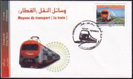 Maroc Morocco FDC  Train électrique - Electric Train Elektrische Eisenbahn Tren Eléctrico Treno Elettrico - Eisenbahnen