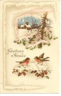 S235 - Heureuse Année - Paysage - Oiseaux - New Year