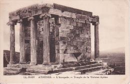 CPA Athènes - L'Acropole - Temple De La Victoire Aptère(3141) - Griechenland