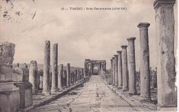 CPA Timgad - Vole Decumanus (côté Est) - Poste Militaire - 1917 (3145) - Algerien