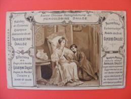 """Carte Pub """"Hemoglobine Dalloz"""" - Pinel Fait Enlever Les Fers Aux Alienés De Biecetre - Reclame"""
