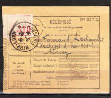RECEPISSE  RECOMMANDE  De MULHOUSE Du 26-6-1936 Via NANCY - Otros