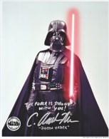 "AUTOGRAPHED  PHOTO   STAR  WARS  "" DARTH  VADER"" - Autographs"