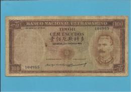 TIMOR - 100 ESCUDOS - 2.1.1959 - P 24 - SIGN. 3 - JOSÉ CELESTINO DA SILVA - PORTUGAL - Timor