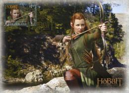 """Entier Postal De Nlle Zélande De 2013 Sur CP Avec Illust.""""Vue Du Film De Peter Jaskson : Le Hobbit 2 - Tauriel"""" - Cinema"""