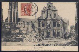 WB816 LA CATHEDRALE DE MALINES APRES LE BOMBARDEMENT DES ALLEMANDS - Mechelen