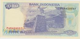 Banknote Indonesian 1000 Rupee 1998 - Stones Jumping Nias Islands - Lake Toba - Iran