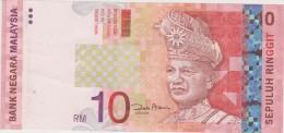 Banknote Malaysia 10 Ringgit - Holographic - Tuanku Abdul Rahman - Putra LRT Train, Malaysia Airlines Boeing 777 - Ship - Maleisië