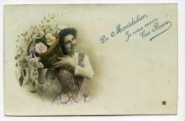 CPA  80   :  MONTDIDIER   Fantaisie Envoi De Fleurs  1906     A   VOIR   !!!! - Montdidier