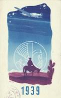 CARTE AIR FRANCE NOUVEL AN 1939. VOYAGE EN DECEMBRE 1938 - Marcophilie (Lettres)