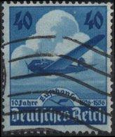 ALLEMAGNE DEUTSCHES III REICH Poste Aérienne 54 (o) AVIATION 10ème Anniversaire Cie Lufthansa (CV 4€) 3 - Airmail