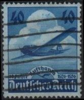ALLEMAGNE DEUTSCHES III REICH Poste Aérienne 54 (o) AVIATION 10ème Anniversaire Cie Lufthansa (CV 4€) 4 - Airmail