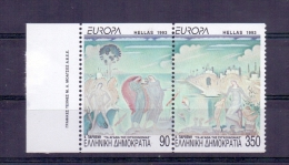 GREECE STAMPS EUROPA 1993/HORIZONTALLY IMPERFORATE(SE-TENANT)-25/5/93 -MNH - Greece