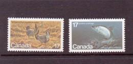 CANADA 1980 POISSONS-OISEAUX  YVERT N°732/33  NEUF MNH** - Poissons