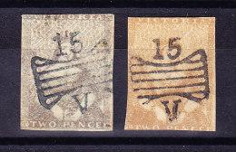 Victoria 1850 SG # 6+ 17 Schmetterlings-Stempel - 1850-1912 Victoria