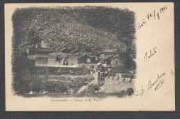 7161-GROSCAVALLO(TORINO)-CAMPO DELLA PIETRA-1901-ANIMATA-FP - Italia