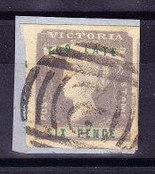 "Victoria 1855 ""TOO LATE"" SG # 33 Gestempelt 6d. Auf Papierstück - 1850-1912 Victoria"