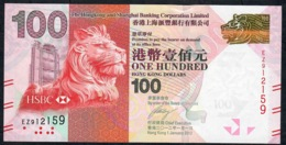 HONG-KONG  P214b HSBC 100 DOLLARS  2012 #EZ    UNC. - Hong Kong