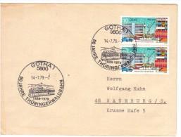 GERMANIA D.D.R. GOTHA 1979  50 Jahre Thuringerwaldbahn   – Speciale Obliterazione - Tranvie