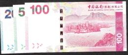 HONG-KONG  NLP B.O.C.  20,50,100  DOLLARS  2013    UNC. - Hong Kong