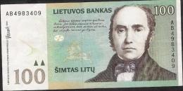 LITHUANIA P62 100 LITU  DATE 2000    XF-AU - Lituanie