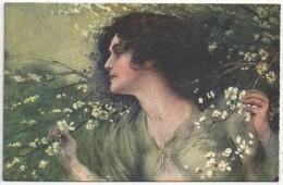 G. GUERZONI - Femme - Fleurs - 2752-5 - Autres Illustrateurs