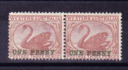 Western Australia 1893 SG#107 In Paar * - Abart Flecken Im Schwan - 1854-1912 Western Australia
