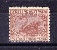 Western Australia 1905/12  3 Pence 1906 SG#153 * - 1854-1912 Western Australia