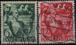 ALLEMAGNE DEUTSCHES III REICH 603 à 604 (o) Anniversaire Régime Nazi National Socialiste 2 - Germany