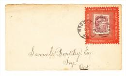 Unoffizieller Duplex Stempel Auf Werbebrief Woodstock 26-12-1890  Mit 3 Cent Frankiert - 1851-1902 Victoria