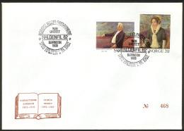 NORWAY, 1982 «FDC Björnson/Undset Nobel Literature Laureates 1903+1928» (Haldenfil Stamp Exh. Cacheted Cover) - Premio Nobel