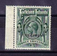 "1923 Falkland Inseln 3 Shilling * Mit Aufdruck ""Specimen"" SG#80 S - Falkland"
