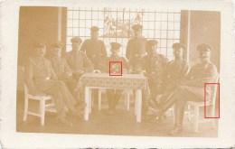 Photocarte Allemande-Groupe Militaires Allemands Baïonnette Sabre Pose Photo(guerre14-18) - Guerre 1914-18