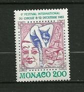 "MONACO 1983   N°1397 "" IX ème Festival Int. Du Cirque à Monte Carlo ""   NEUF - Monaco"