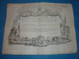 DOCUMENT ENTIEREMENT DECORE 14 JUILLET 1787 SIGNE DU MARECHAL DE FRANCE LE MARQUIS DE SEGUR TRES RARE SUP - Marcophilie (Lettres)