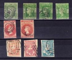Australien - 1852-76 - Lot Von 9 Marken Gestempelt Aus Australische Staaten - Australie
