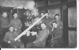 Noël Groupe De Soldats Allemands Autour Du Sapin 1carte Photo 1914-1918 14-18 Ww1 WwI Wk Poilus - War, Military
