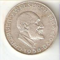 MONEDA DE PLATA DE AUSTRIA DE 25 SHILLING DEL AÑO 1958  (COIN) SILVER - ARGENT - Autriche