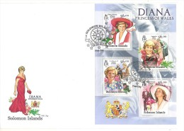 SOLOMON ISLAND  FDC 15.02.2013  PRINCESS OF WALLES  DIANA - Donne Celebri