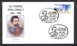GERMANY ALLEMAGNE 2011. SPECIAL POSTMARK. KING LUDWIG II VON BAYERN - Beroemde Personen
