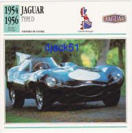 Fiche : Voitures De Course / JAGUAR Type D / 1954 - 1956 / Epoque Clasique / Grande-Bretagne - Automobile - F1