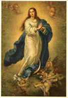 Madrid - Santino Cartolina IMMACOLATA CONCEZIONE Di MURILLO, Museo Del Prado - OTTIMO G74 - Religion &  Esoterik