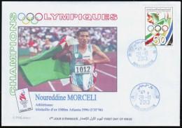 ALGERIE ALGERIA 2013  - FDC - Athletics - Gold Medallist - Algerian Olympic Committee  Morceli - Zomer 1996: Atlanta