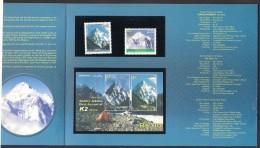 PAKISTAN Special Presentation Folder Incl. Stamps & Souvenir Sheet On Mountains K2 & Nangaparbat ** - Pakistan