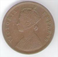 INDIA QUARTER ANNA 1884 GRAN BRETAGNA COLONIA - Colonie