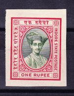 Indien - Indore State 1 Rupee - Plate Probedruck - - Inde