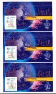 Hong-Kong 2000 Block Mi#83 ITU TELECOM ASIA  3 Blocks Senkrecht Zusammenhängend - Neufs